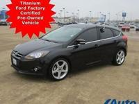 *** TITANIUM FOCUS. FORD FACTORY CERTIFIED PRE-OWNED