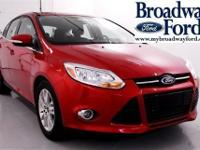 Look at this 2012 Ford Focus SEL. It has an Automatic
