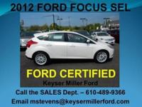 FORD CERTIFIED! This 2012 FOR FOCUS HATCHBACK SEL was