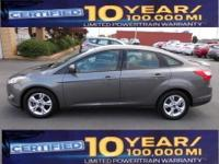 2012 FORS FOCUS 4DR SE GRAY WITH GRAY AND BLACK COLTH,