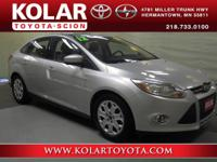 Focus SE, ONE Owner Per AUTO CHECK History Report,