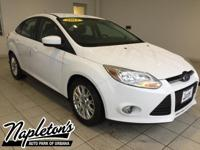 Recent Arrival! 2012 Ford Focus in White, SINGLE DISK
