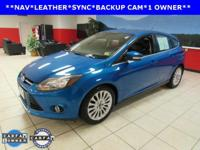 ONE OWNER, BACKUP CAM, LEATHER, NAVIGATION, SYNC,