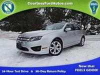 This Fusion is equipped with Sunroof, SYNC, SIRIUS,
