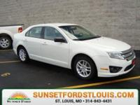 2012 Ford Fusion S White Suede, 7yr/100k Warranty,
