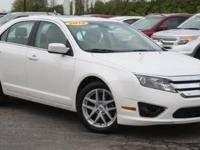 2012 Ford Fusion SEL White Suede, LEATHER SEATS, DUAL