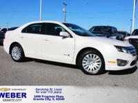 White Ford Fusion Hybrid **ANOTHER WEBER 1-OWNER