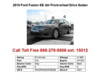 2012 Ford Fusion SE 4dr Front-wheel Drive Sedan Sedan 4