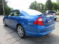 Options:  2012 Ford Fusion Sel|Blue Flame/Charcoal