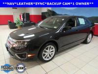 ONE OWNER, LEATHER, NAVIGATION, SUNROOF, Fusion SEL, 4D