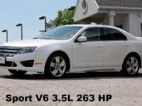 2012 Ford Fusion Sport White Platinum Exterior with