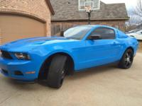 Rare Grabber Blue Pony 3.7L 335 HP 6 speed manual with