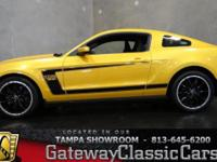 Stock #351-TPA 2012 Ford Mustang Boss 302  $49,995