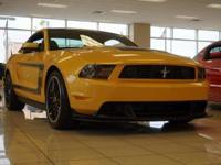 2012 Ford Mustang Boss 302 in Yellow Blaze Metallic