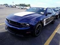 Blue 2012 Ford Mustang Boss 302 RWD 6-Speed Manual HiPo