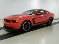 Or 2012 Ford Mustang Boss 302 RWD 6-Speed Manual HiPo