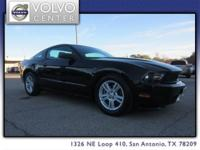 This 2012 Ford Mustang is a two door coupe with a 3.7