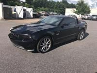Black 2012 Ford Mustang GT RWD 6-Speed Automatic 5.0L