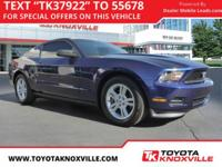 Clean CARFAX. Grabber Blue 2012 Ford Mustang V6 Premium