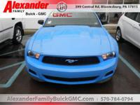 2012 Ford Mustang 2DR CPE V6. Serving the Bloomsburg,
