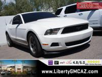 White 2012 Ford Mustang V6 RWD 6-Speed 3.7L V6 Ti-VCT
