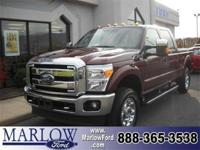 2012 FORD F-250 4X4 CREW CAB PICKUP/156 IN AUTUMN RED