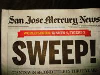 SAN JOSE MERCURY NEWS SECTION A NEWSPAPER FOR GIANTS