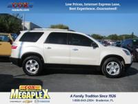 This 2012 GMC Acadia in Summit White is well equipped