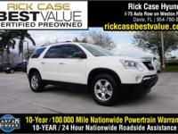 2012 GMC Acadia SLE in White. FWD and Cloth. So clean,