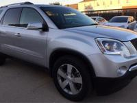 New Price! Silver 2012 GMC Acadia SLT-1 AWD 6-Speed