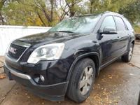 Carbon Black Metallic 2012 GMC Acadia SLT-1 FWD 6-Speed