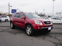 This 2012 CRYSTAL RED GMC ACADIA FWD SLT-1 with
