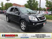 JUST ARRIVED! 2012 GMC Acadia SLT2 AWD With Only 72,180