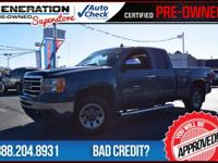 Extended Cab and 2012 GMC Sierra 1500. Best color! The