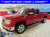 ONE OWNER, Sierra 1500 SLE, Extended Cab, Vortec 5.3L