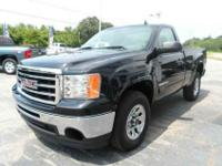 This 2012 GMC Sierra SLE two wheel-drive is a black