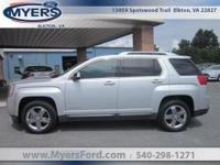 LOCAL TRADE. 2012 GMC TERRAIN SLT AWD. SILVER WITH