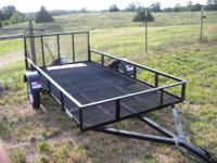 5 X10 lightweight utility trailer with drop gate.