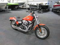 CLEAN 2012 HARLEY-DAVIDSON DYNA FAT BOB WITH ONLY 4,051