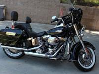 2012 HD soft tail motorcycle with several upgrades