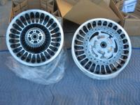 New front and rear wheels total with rotors(two front,