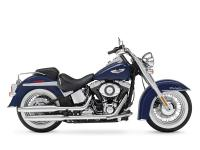The Harley fenders on the Softail Deluxe hold true