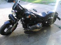 Beautiful, glossy black 2012 Harley