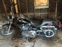 2012 Harley-Davidson Dyna Super Glide in black. This