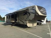 This is a luxury fifth wheel with lots of extras to