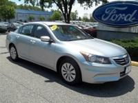 CLEAN CARFAX2012 HONDA ACCORD SEDAN LX TRIM