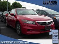 2012 Honda Accord 2.4 EX Red FWD 2.4L I4 DOHC i-VTEC