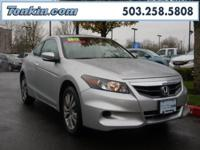 2012 Honda Accord EX-L Alabaster Silver Metallic 2.4L