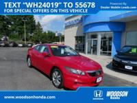 Honda Certified 2012 Accord EX-L, Sunroof, Leather,