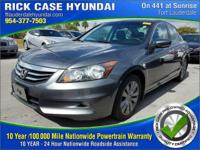 2012 Honda Accord EX-L in Gray, 10 year or 100,000 mile